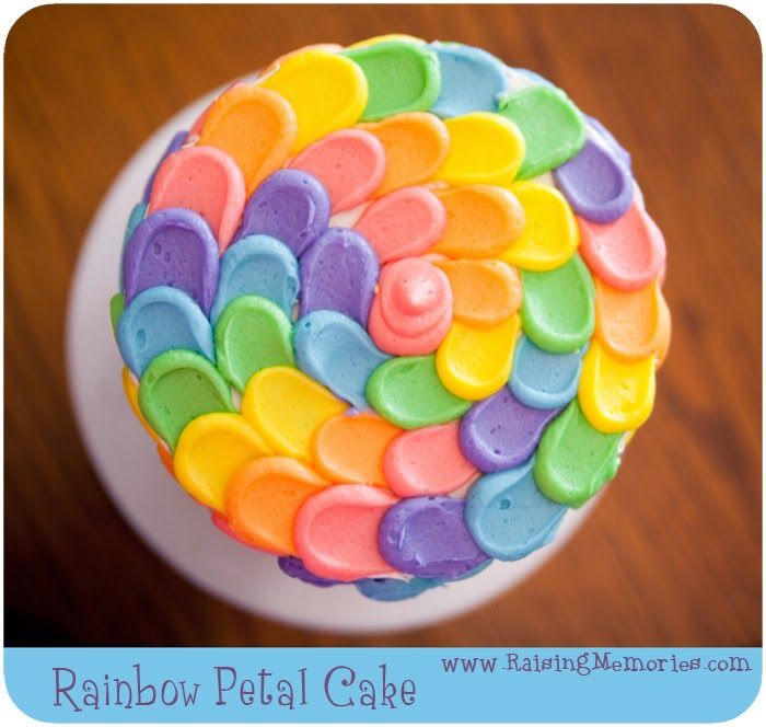 Rainbow Petal Cake with Surprise Inside