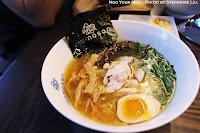 Tokyo Chicken: Steamed Chicken, Aji-Tama, Menma, Seared Garlic Chive, Kikurage, Toasted Nori, Soy Tare at Momosan