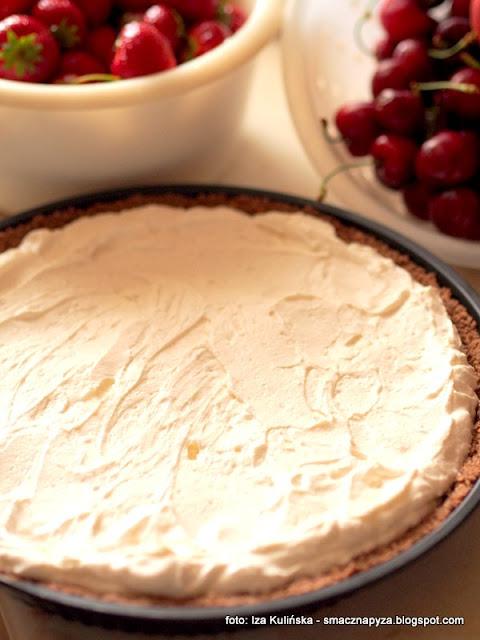 krem mascarpone, maskarpone, kremy do ciast i tortów, smietanka, bita smietana, tarta bez pieczenia, deser na lato, ciasto na niedziele