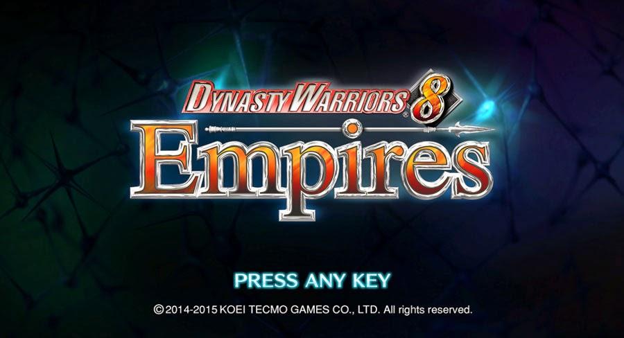 หน้าจอหลักของ DYNASTY WARRIORS 8 Empires