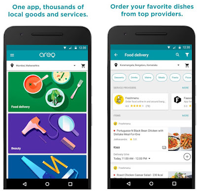 Google Launched Areo app for Food Delivery with Home Services