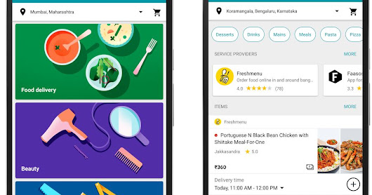 Google Launched Areo app for Food Delivery with Home Services in India