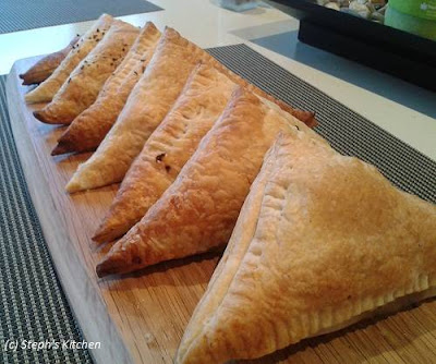 Beef Pasties with puff pastry - Steph's Kitchen