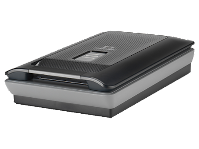 is a flatbed scanner alongside a backlight for scanning negatives HP Scanjet G4050 Driver Download