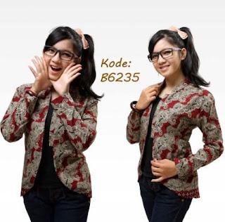 Cardigan batik model jepang modis dan cantik