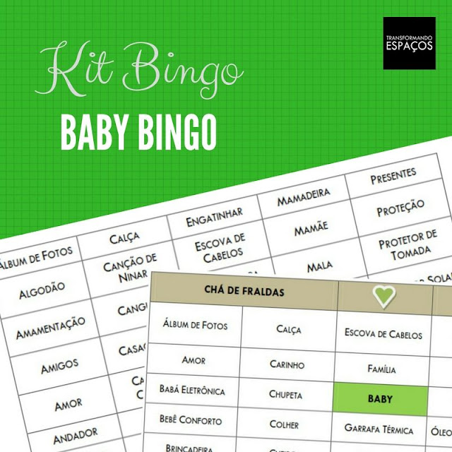 Brinque de Baby Bingo no seu Chá de Fraldas!