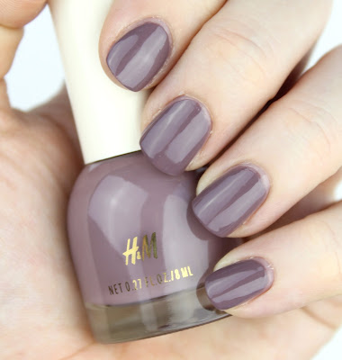 H&M Polish in Mauve On Up review swatch swatches
