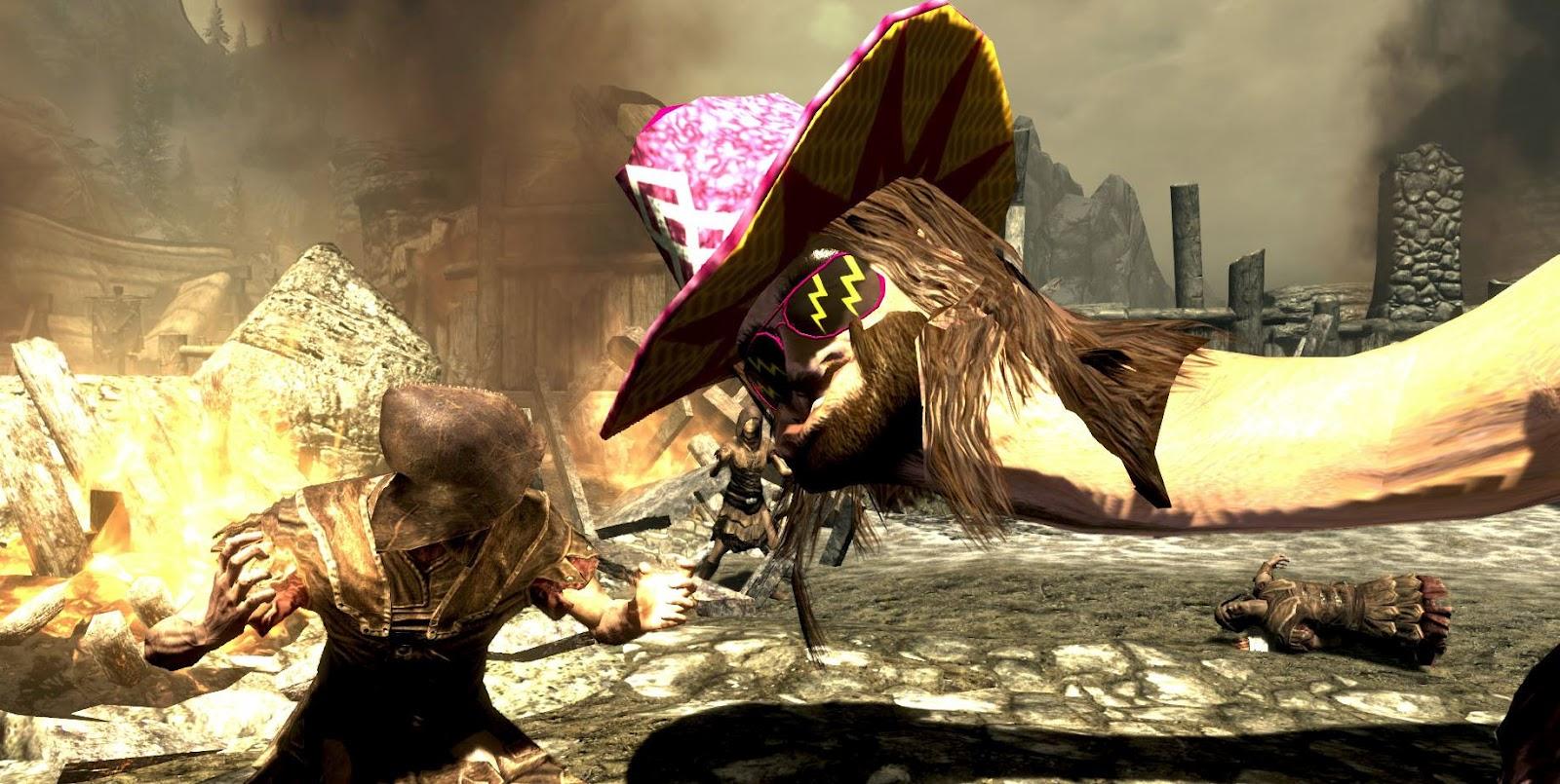 Skyrim macho man randy savage dragon mod download
