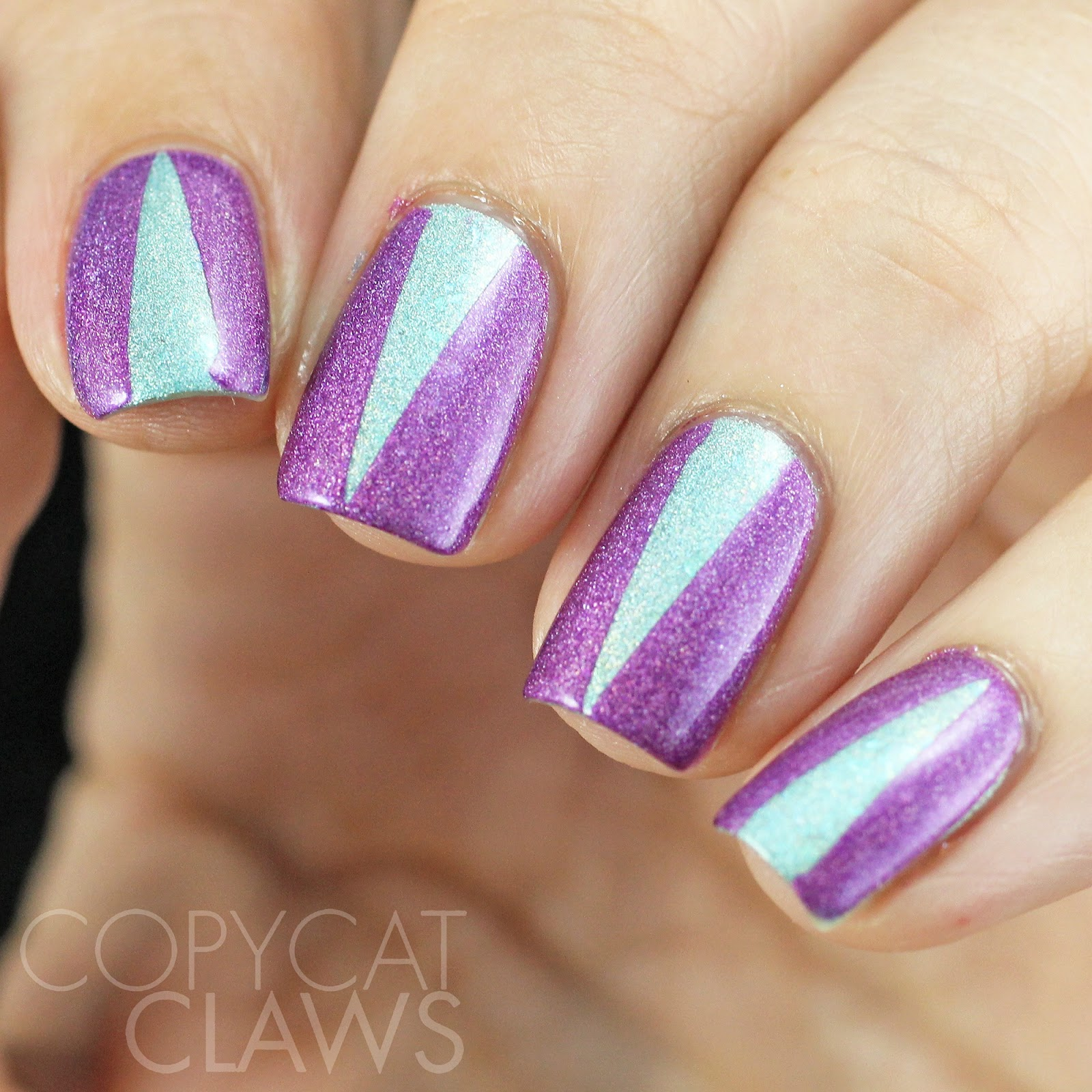 Girly Nail Art: Copycat Claws: Girly Bits Triangle Nail Art