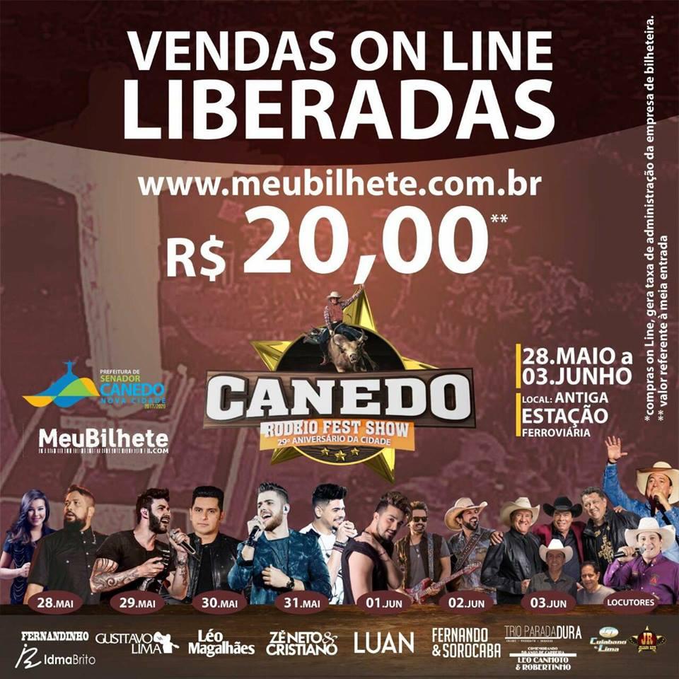 Circuito Rodeio 2018 : Canedo rodeio fest show vendas online de ingressos já estão
