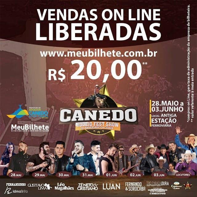 Canedo Rodeio Fest Show: Vendas online de ingressos já estão liberadas