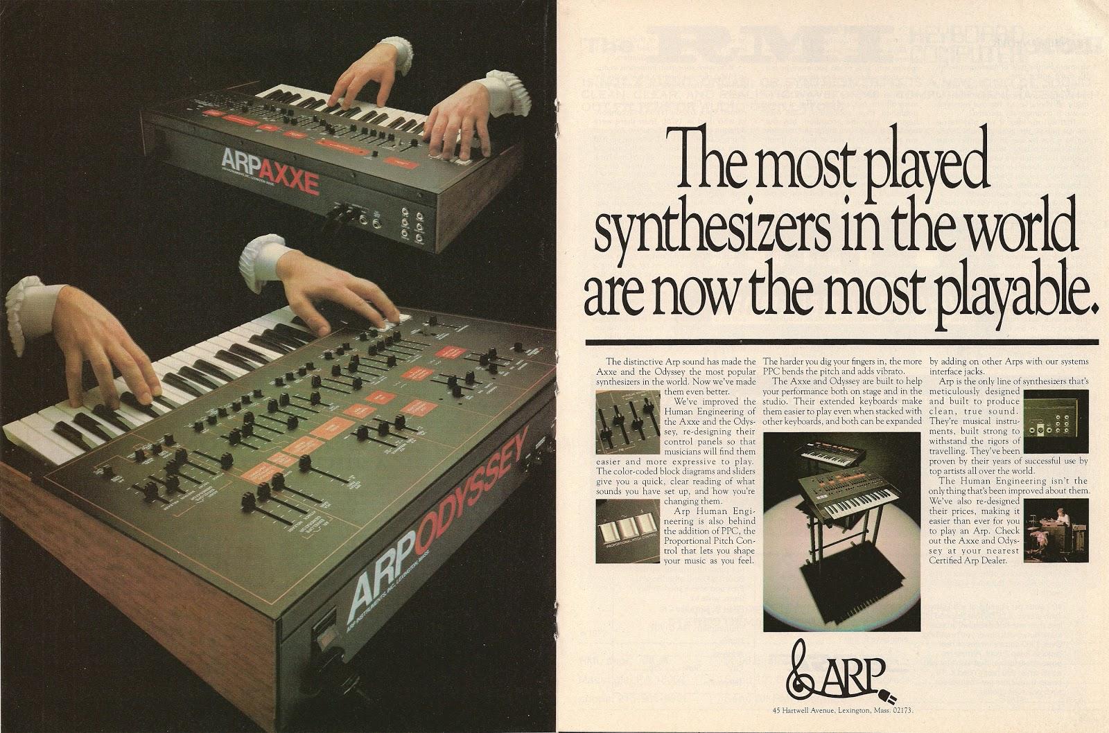 """Résultat de recherche d'images pour """"arp synth ad"""""""