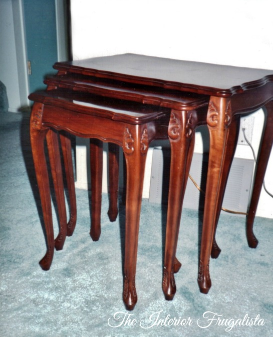 Vintage Nesting Tables Before Makeover