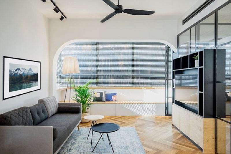 Cận cảnh thiết kế nội thất căn hộ 53m2 sang trọng và tinh tế - H1