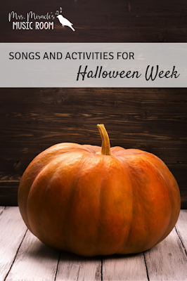 Songs and Activities for Halloween Week: Great ideas for your music lessons!