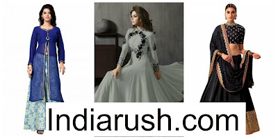 Shopping for Designer Lehengas online at IndiaRush. image