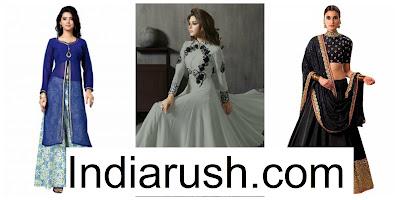 Shopping for Designer Lehengas online at IndiaRush. image