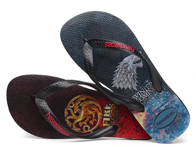 Sandálias havaianas game of thrones