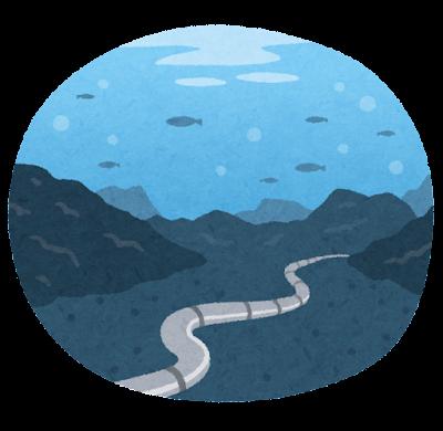 海底ケーブルのイラスト