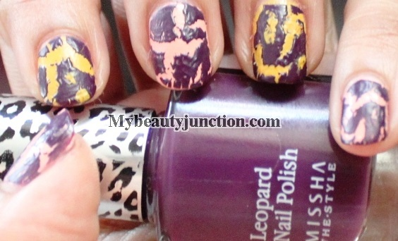 Shatter manicure with Missha Leopard Nail Polish