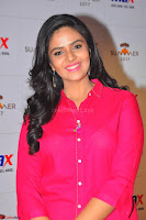 Sree Mukhi in Pink Kurti looks beautiful at Meet and Greet Session at Max Store (4).JPG
