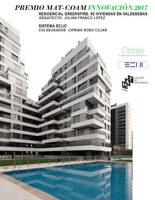 PREMIO MAT-COAM INNOVACIÓN, Fachada tecnológica, Envolvente arquitectónica, Sistema SCLIC