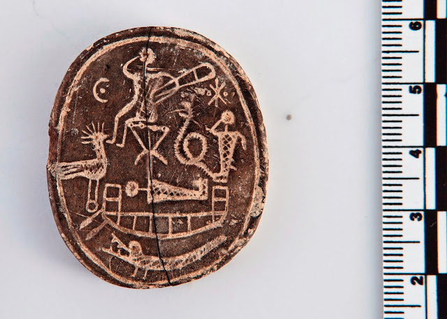 Amulet with palindrome inscription found in Cyprus