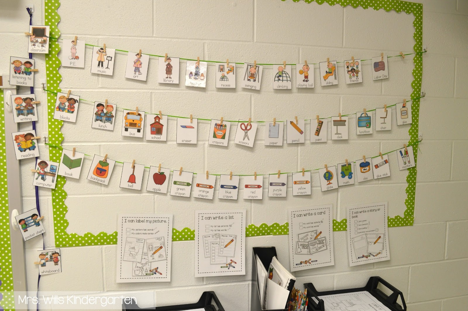 Kindergarten Writing Work Stations