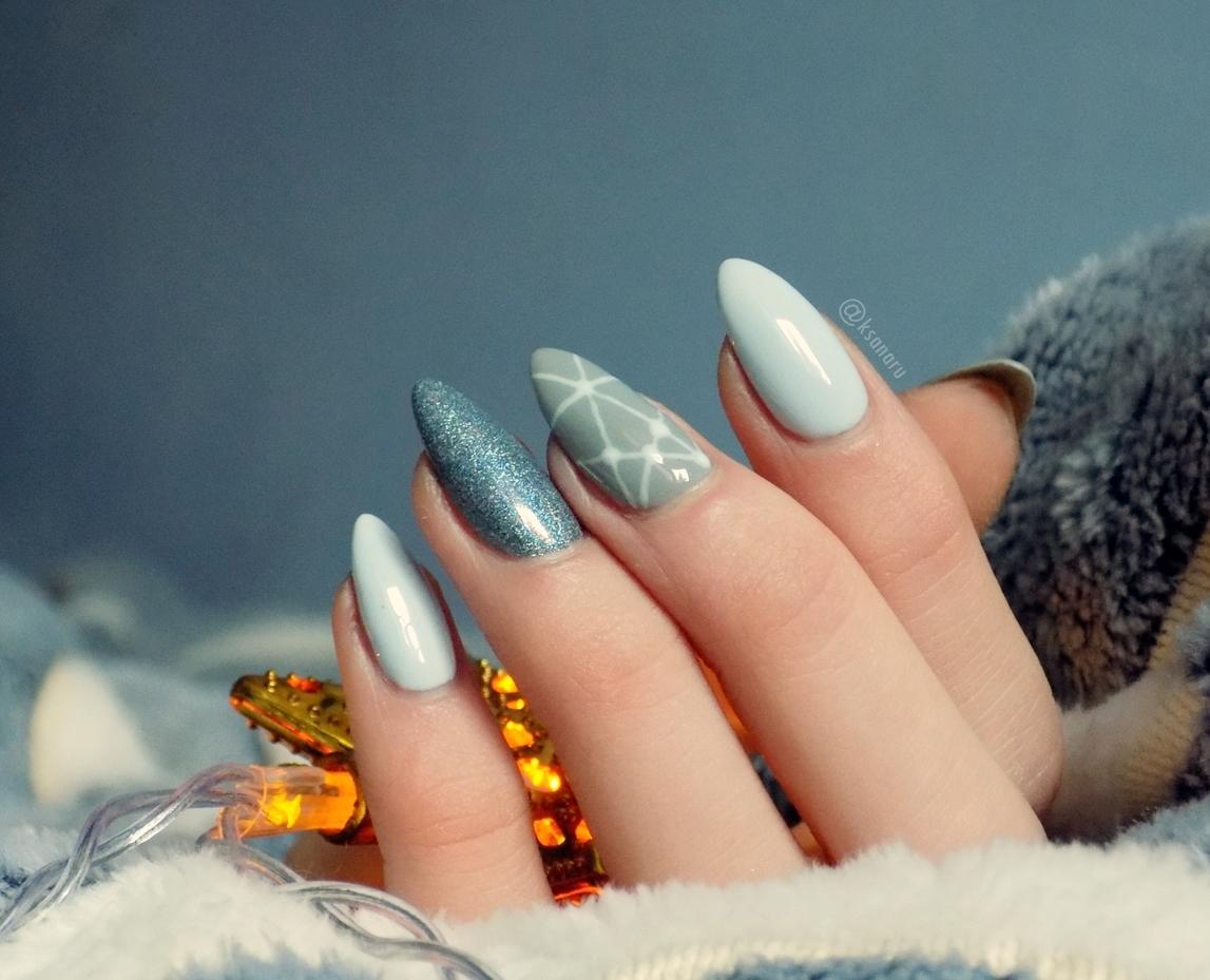 #45 Zimowe zdobienie paznokci na ostatnią chwilę.