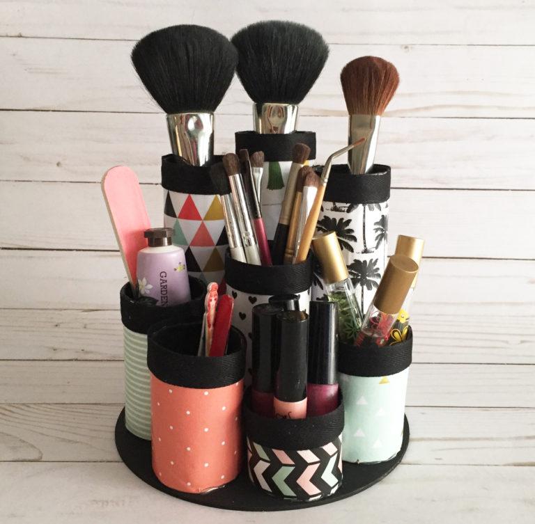 Organizador de maquillaje diy