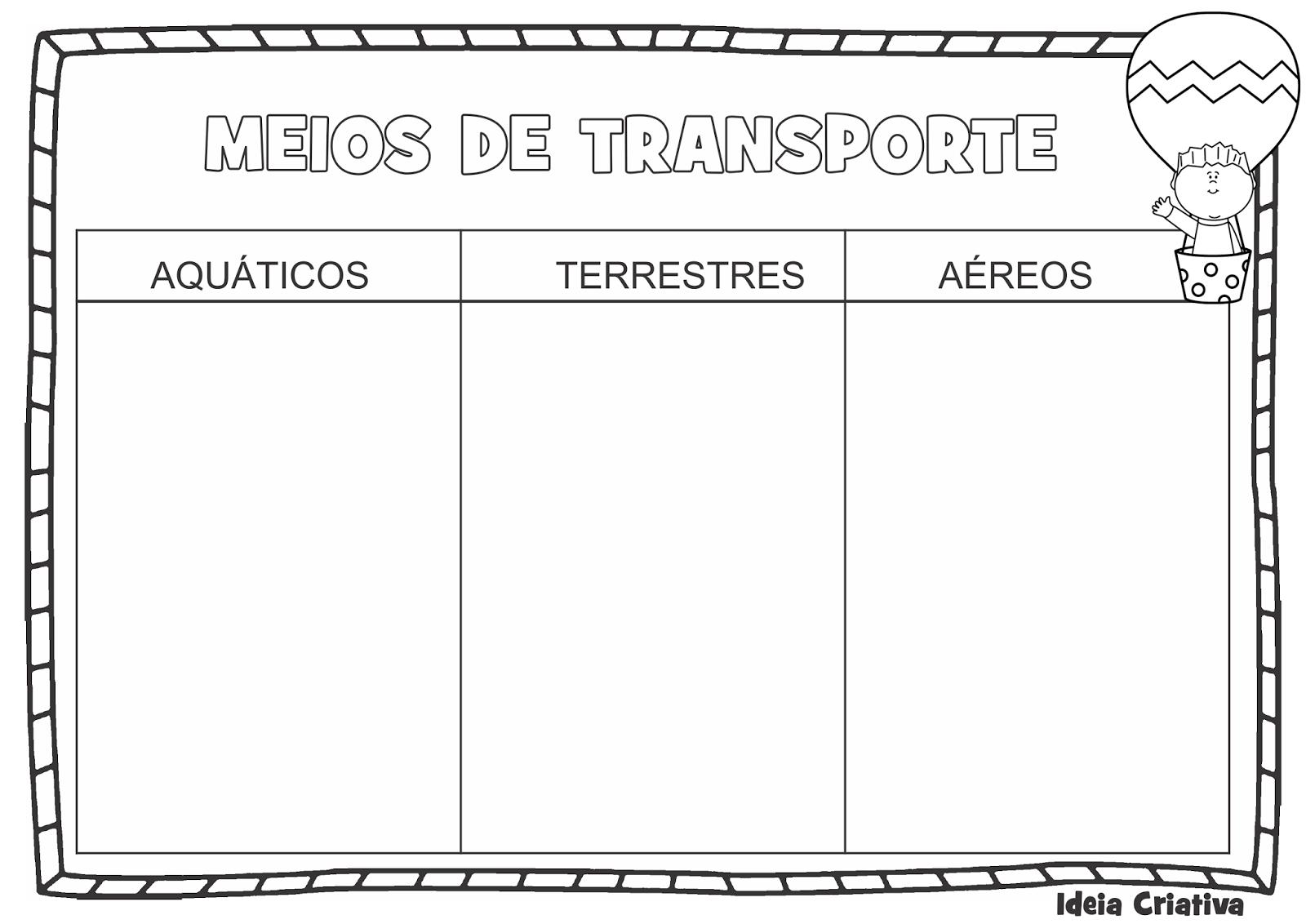 Atividade Meio De Transporte Recorte Colagem Ideia Criativa