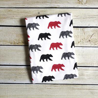 Lumberjack Bears Organic Swaddle Blanket