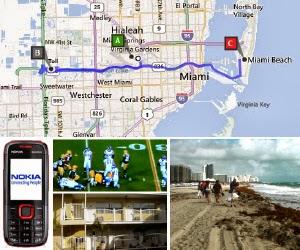Route Florida - Miami Beach