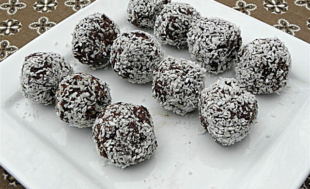 Vegan Coconut Balls Covered In Chocolate