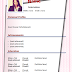 Download CV doc Word Form Template Free Stylish + Picture