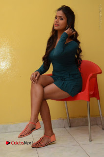 Telugu Actress Prasanthi Stills in Green Short Dress at Swachh Hyderabad Cricket Press Meet  0083.JPG