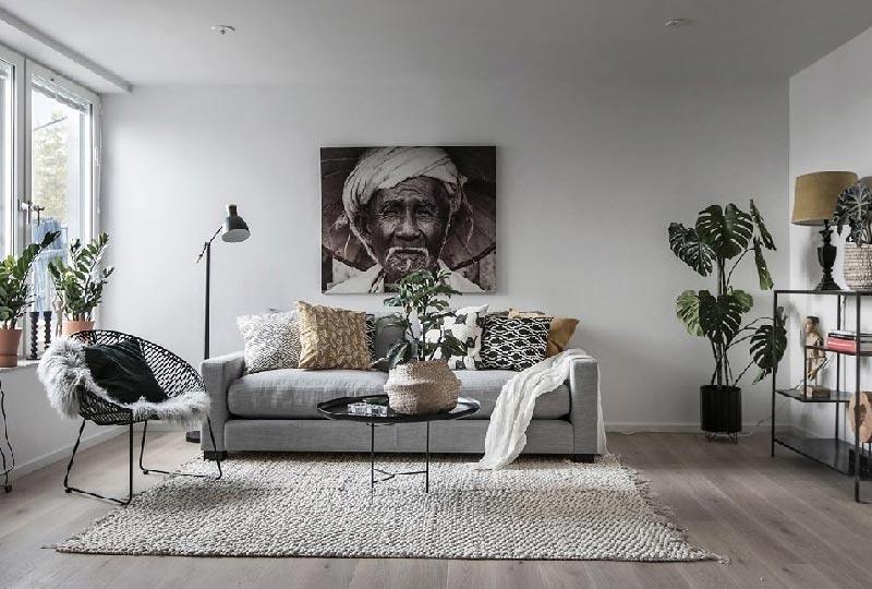 scelta del tappeto per un salone piccolo