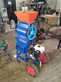 Mesin Pengupas Kulit Biji Kopi Portable Pake Roda