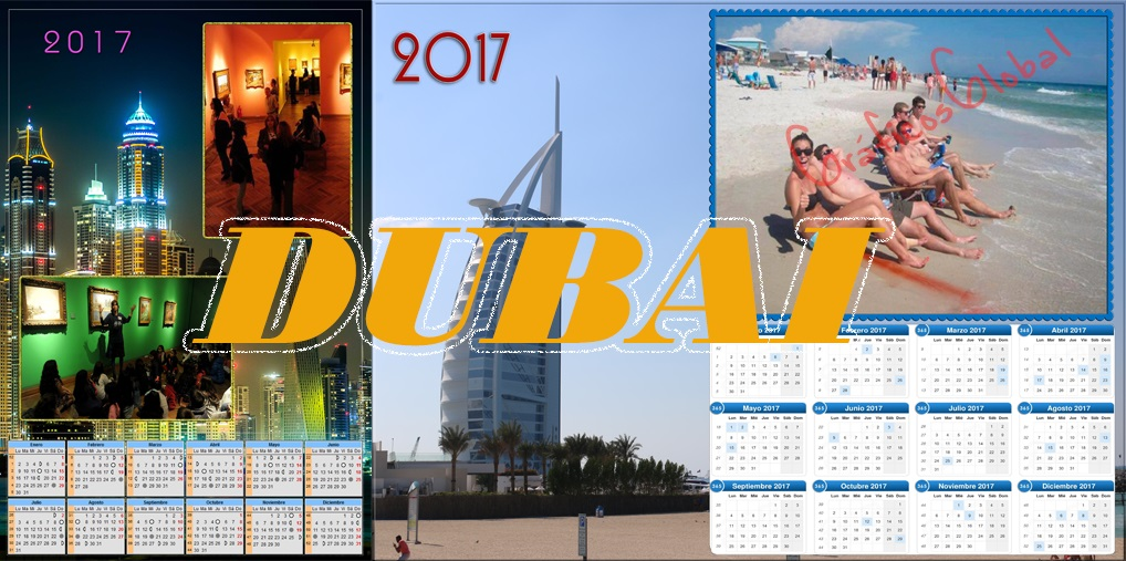 calendarios 2017 editable DUBAI plantillas psd