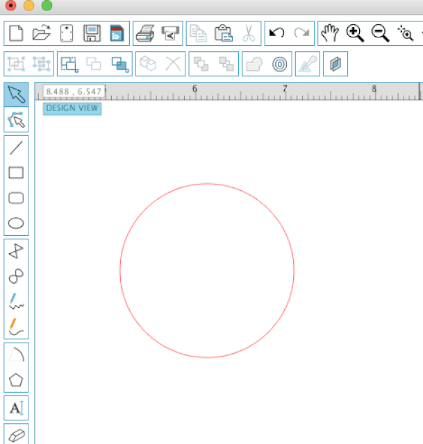 draw a circle silhouette studio design