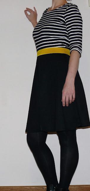 zwart witte plooi jurk