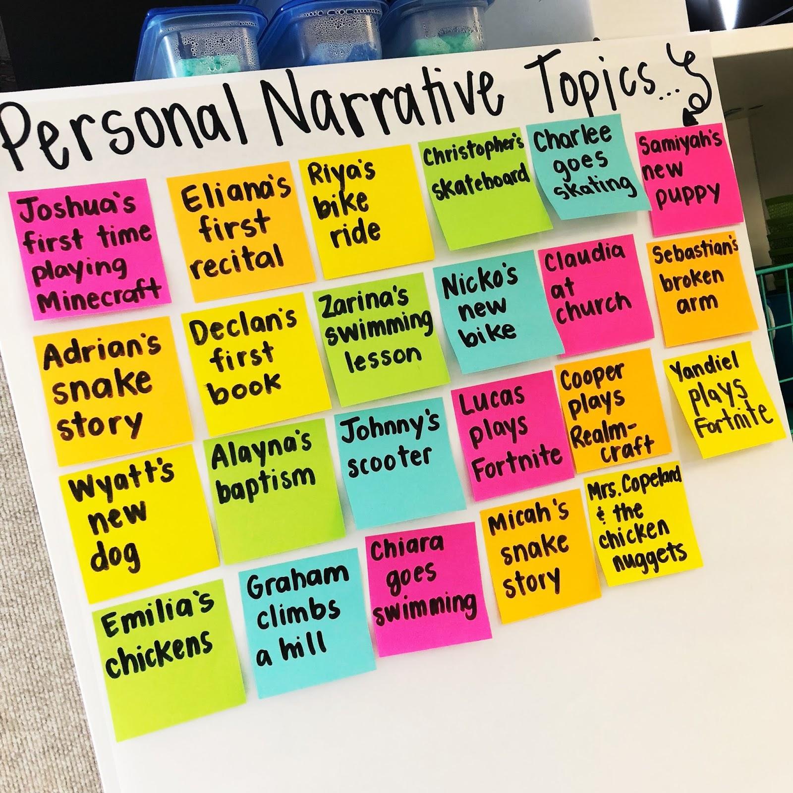15 Personal Narrative Mini-Lessons   True Life I'm a Teacher [ 1600 x 1600 Pixel ]