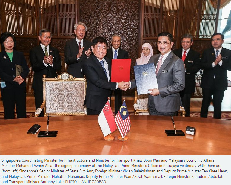55ba69cf8851e9 Singapore and Malaysia yesterday signed an agreement to defer the Kuala  Lumpur-Singapore High-Speed Rail (HSR) project for about two years.