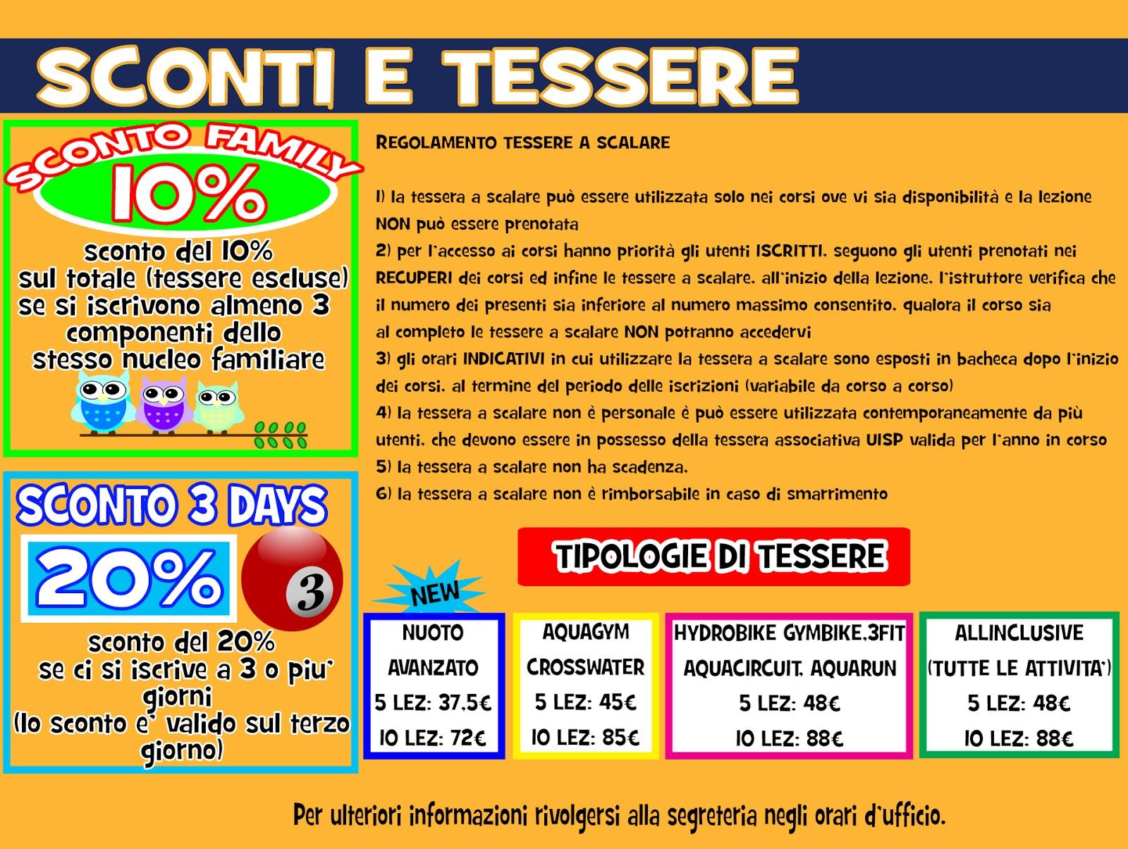 UISP Castel San Pietro Terme PISCINA 20162017  VOLANTINO ATTIVITA