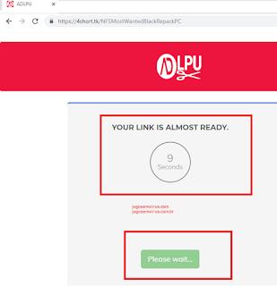 Como baixar no site! Imagem Exemplo Encurtador Get link