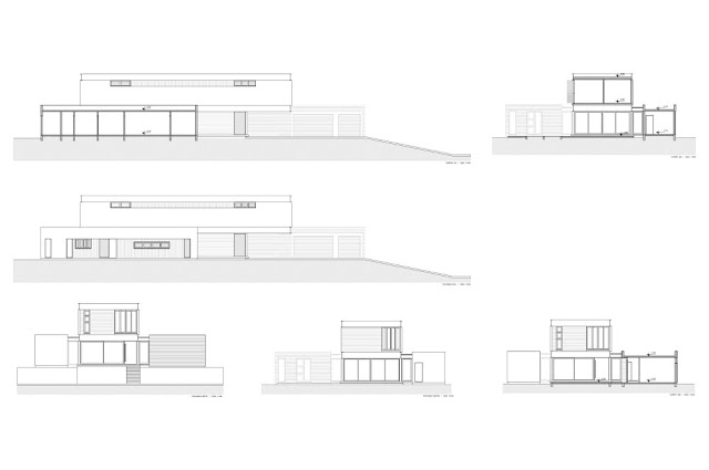 Section drawings of the Haack House