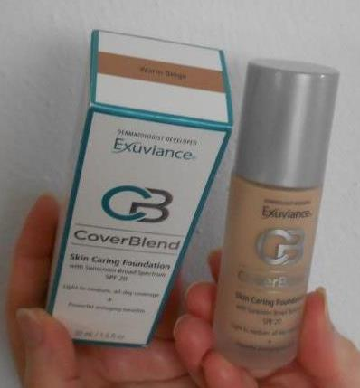 Exuviance CoverBlend Makeup Warm Beige Foundation