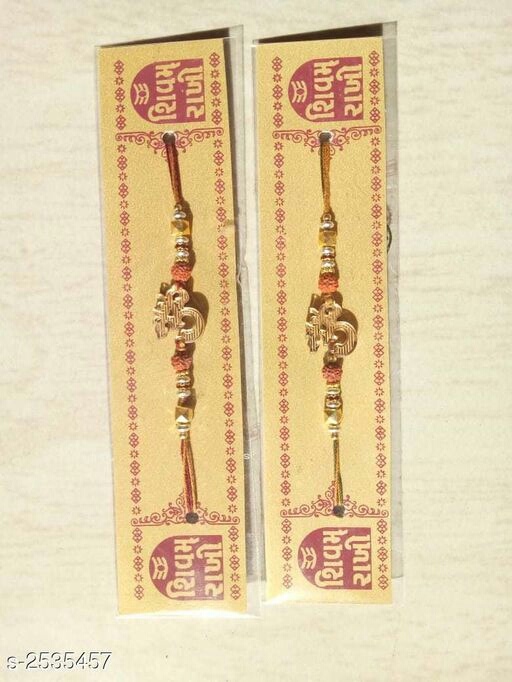 Trendy Alloy Embellished Rakhi( Pack Of 2)