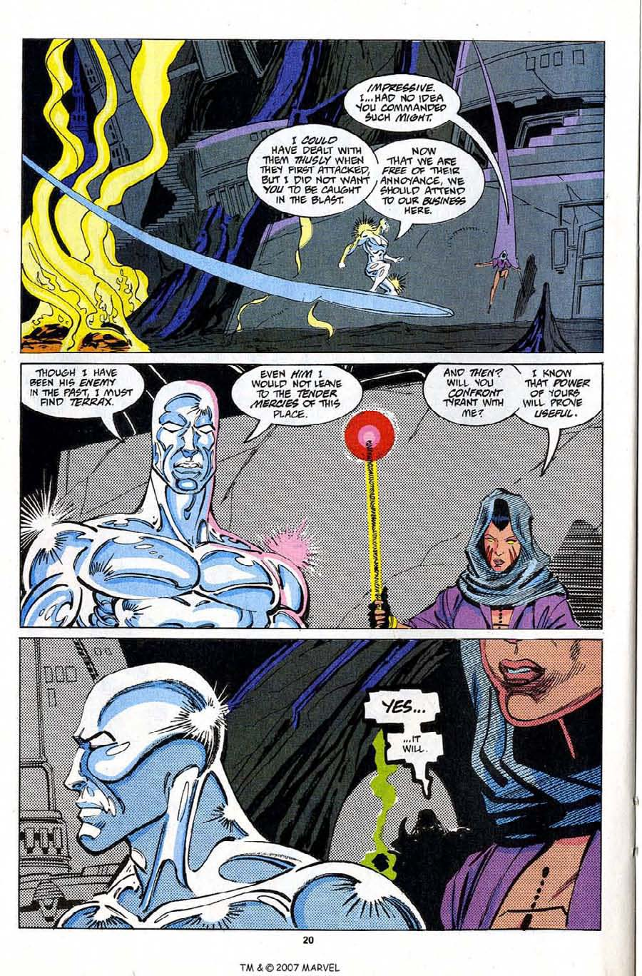 Read online Silver Surfer (1987) comic -  Issue #81 - 22
