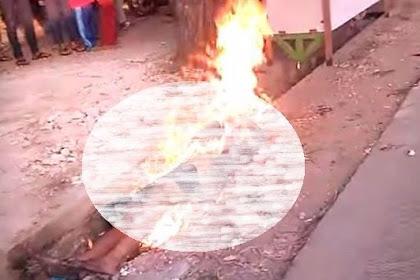 Biadab! Mau Sholat, Tukang Servis Televisi di Bekasi Malah Dibakar Hidup-hidup Karena Dituduh Maling Ampli Masjid
